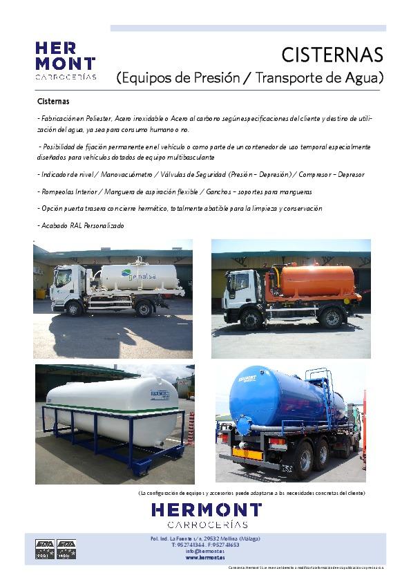 CISTERNAS (Equipos de Presión / Transporte de Agua)